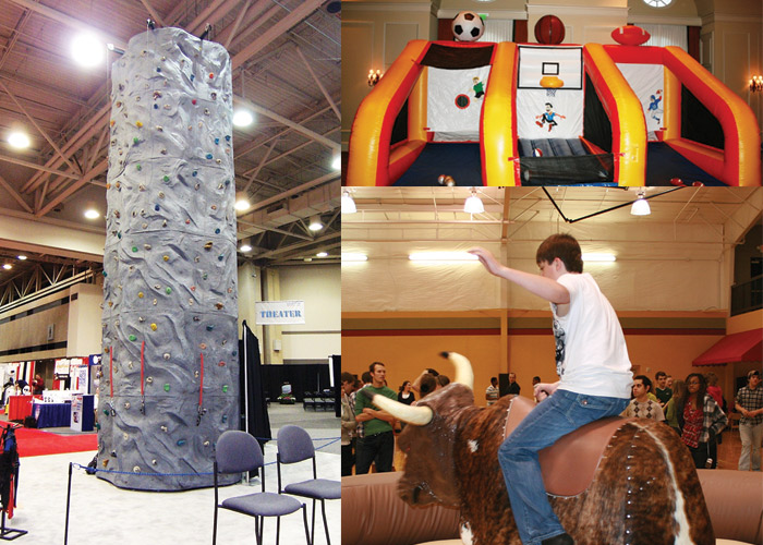 Portable Rock Climbing Wall, Mechanical Bull, Wax Hands, Triple Play Sports