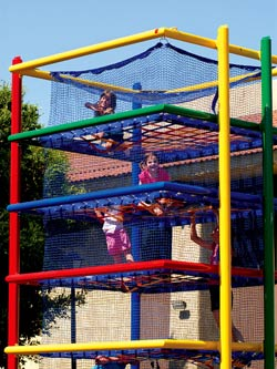 Kids playing in the Spider Zone